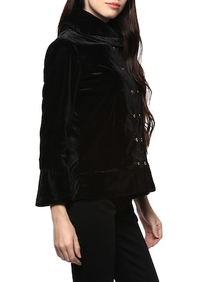 black double breasted coat - 14527287 - Standard Image - 2