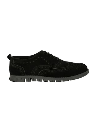 black Suede lace up shoe - 14528684 - Standard Image - 2