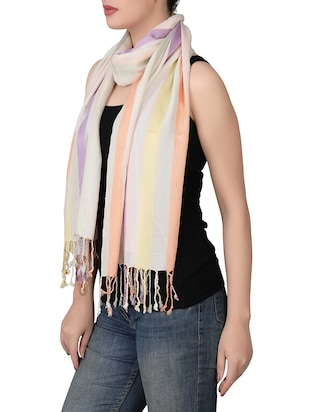 white viscose scarf - 14528945 - Standard Image - 2