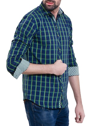 blue cotton casual shirt - 14528982 - Standard Image - 2