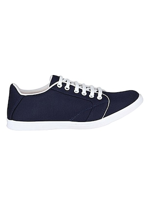 navy canvas lace up sneakers - 14529127 - Standard Image - 2