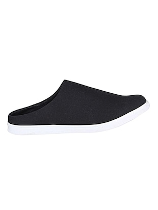 black canvas slip on mules - 14529128 - Standard Image - 2