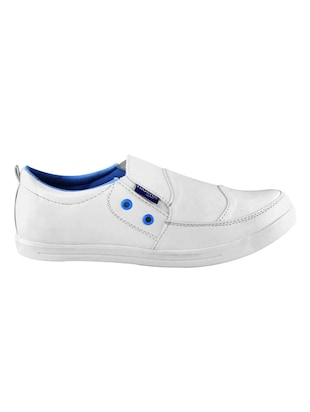 white leatherette casual slipon - 14529138 - Standard Image - 2