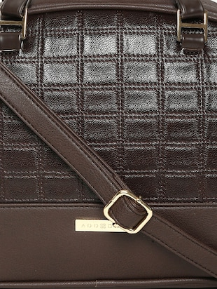 brown leatherette handbag - 14530308 - Standard Image - 5