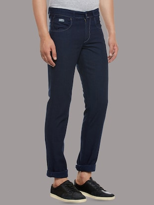 blue denim plain jeans - 14530310 - Standard Image - 2