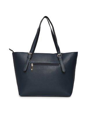 blue leatherette  regular handbag - 14530329 - Standard Image - 2