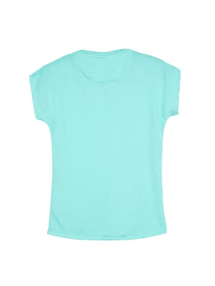 blue cotton tee - 14530425 - Standard Image - 2