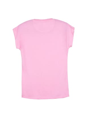pink cotton tee - 14530603 - Standard Image - 2