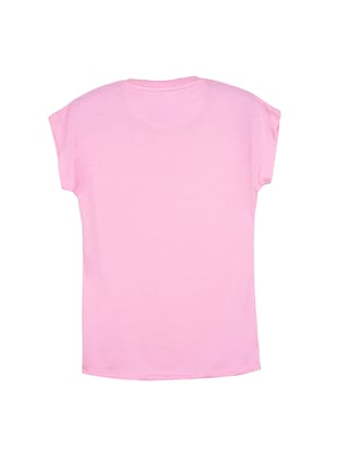 pink cotton tee - 14530778 - Standard Image - 2