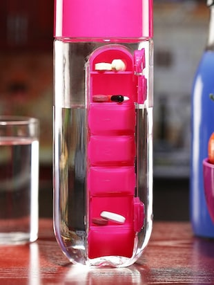 Combo of 2 pcs Red Pill Organizer Water Bottle each 700 ml - 14531532 - Standard Image - 5