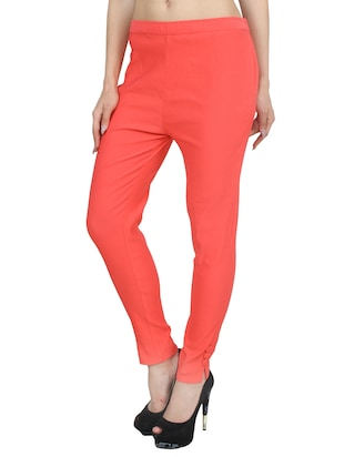 orange rayon trouser - 14531540 - Standard Image - 2