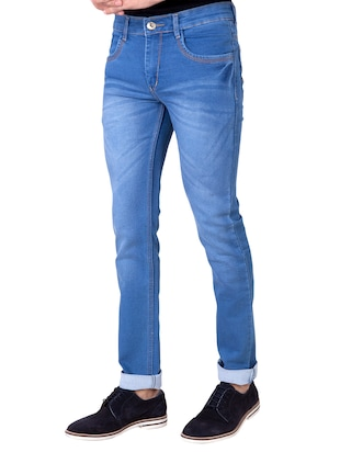 light blue denim washed jeans - 14531548 - Standard Image - 2
