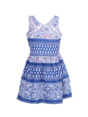 blue polyester frock - 14531876 - Standard Image - 2