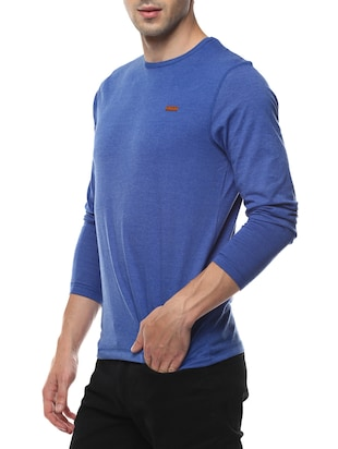 blue cotton  t-shirt - 14531963 - Standard Image - 2