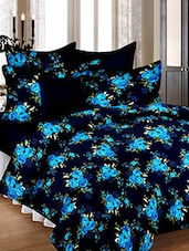 100% Cotton Floral Print Double Bedsheet with 2 Pillow Covers -  online shopping for bed sheet sets