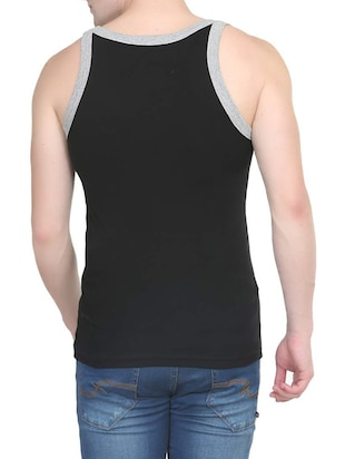 black cotton vest (Set Of 2) - 14533547 - Standard Image - 5