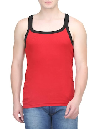 red cotton vest (Set Of 2) - 14533549 - Standard Image - 2