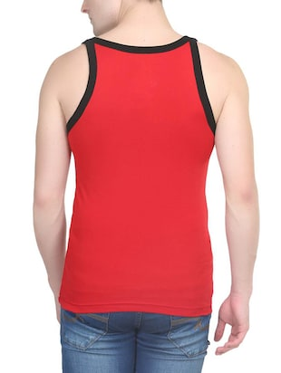 red cotton vest (Set Of 2) - 14533549 - Standard Image - 5