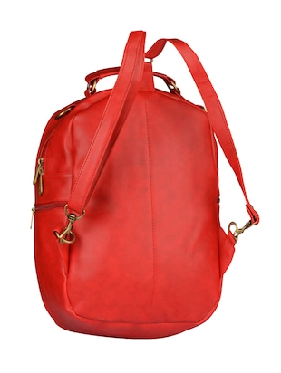 red leatherette  fashion backpack - 14533591 - Standard Image - 2