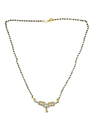 gold metal mangalsutra necklace - 14533694 - Standard Image - 2