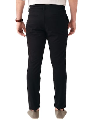 black cotton chinos casual trouser - 14534705 - Standard Image - 2