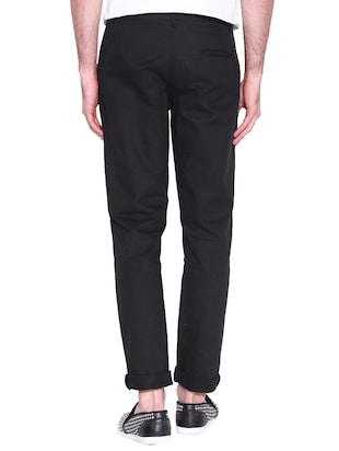 black cotton chinos casual trouser - 14534708 - Standard Image - 2