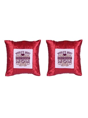 """Best Mom"" Printed Set Of 5 Cushion Covers - 14535605 - Standard Image - 2"