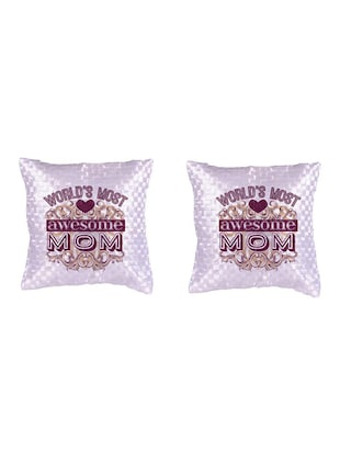 """Best Mom"" Printed Set Of 5 Cushion Covers - 14535609 - Standard Image - 2"