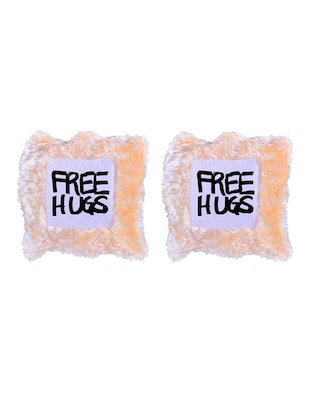 """Free Hugs"" Quoted Printed Set Of 5 Cushion Covers - 14535691 - Standard Image - 2"