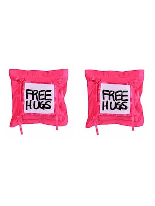 """Free Hugs"" Quoted Printed Set Of 5 Cushion Covers - 14535694 - Standard Image - 2"