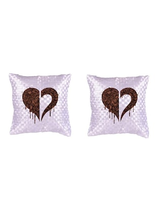 Heart Printed Set Of 5 Cushion Covers - 14535886 - Standard Image - 2