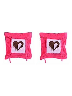 Heart Printed Set Of 5 Cushion Covers - 14535893 - Standard Image - 2