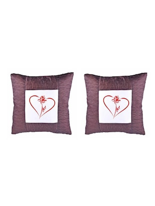 Heart Printed Set Of 5 Cushion Covers - 14535917 - Standard Image - 2