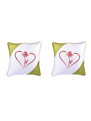 Heart Printed Set Of 5 Cushion Covers - 14535918 - Standard Image - 2