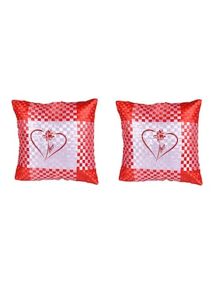 Heart Printed Set Of 5 Cushion Covers - 14535928 - Standard Image - 2