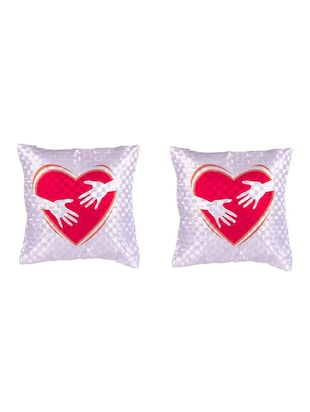 Heart Printed Set Of 5 Cushion Covers - 14535946 - Standard Image - 2