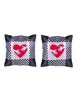 Heart Printed Set Of 5 Cushion Covers - 14535954 - Standard Image - 2