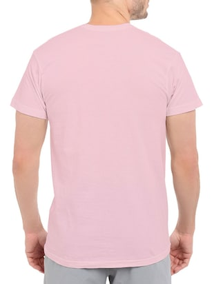 pink cotton chest print tshirt - 14536040 - Standard Image - 2