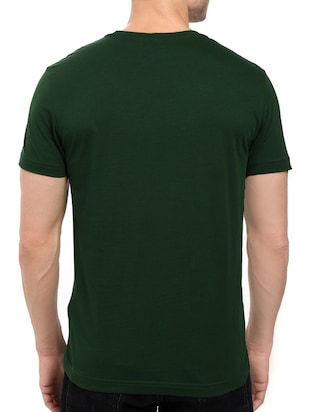 green cotton chest print tshirt - 14536067 - Standard Image - 2