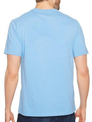 blue cotton chest print tshirt - 14536092 - Standard Image - 2