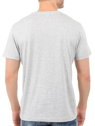 grey cotton front print t-shirt - 14536115 - Standard Image - 2