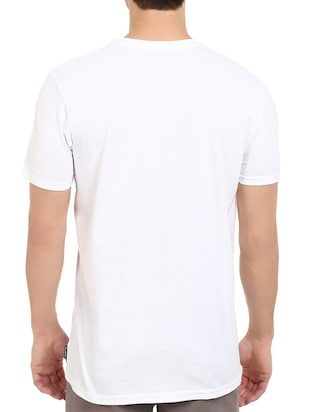 white cotton chest print tshirt - 14536336 - Standard Image - 2