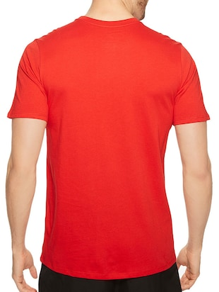 red cotton chest print tshirt - 14536354 - Standard Image - 2