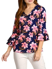 multi colored crepe top -  online shopping for Tops