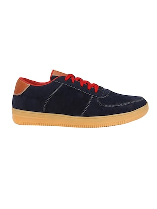 blue Suede lace up sneaker - 14539913 - Standard Image - 2