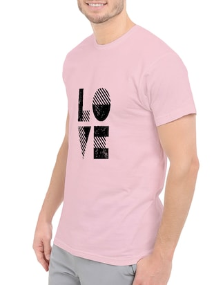 pink cotton chest print tshirt - 14539971 - Standard Image - 2