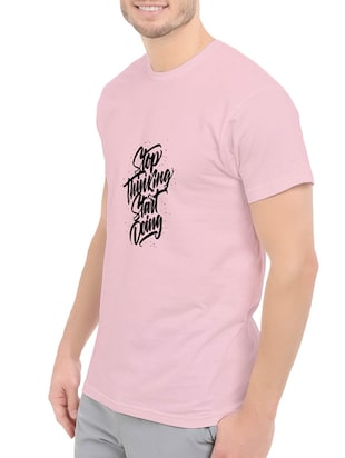 pink cotton chest print tshirt - 14540398 - Standard Image - 2
