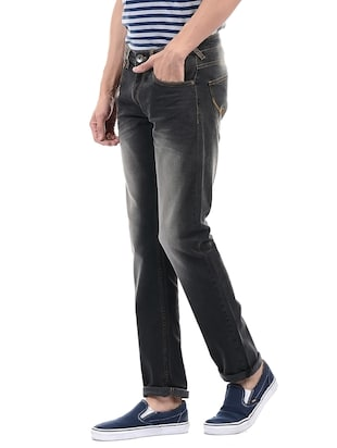 grey cotton washed jeans - 14542146 - Standard Image - 2