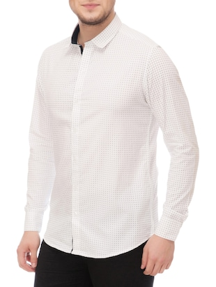 white cotton casual shirt - 14542314 - Standard Image - 2