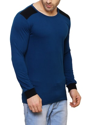 blue cotton t-shirt - 14543080 - Standard Image - 2